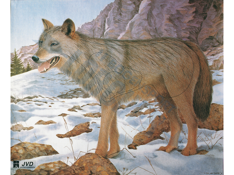 Tierscheibenauflage Wolf